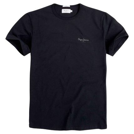 Crew Neck Plain Cotton Short Sleeves Crew Neck T-Shirts