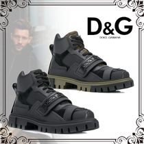 Dolce & Gabbana Blended Fabrics Street Style Leather Engineer Boots