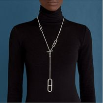 HERMES Chaine dAncre Casual Style Silver Elegant Style Necklaces & Pendants