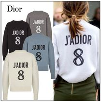 Christian Dior JADIOR Casual Style Unisex Cashmere Street Style U-Neck