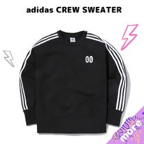 adidas Crew Neck Stripes Unisex Street Style U-Neck Long Sleeves