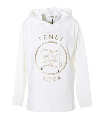 FENDI Street Style Long Sleeves Logo Hoodies & Sweatshirts