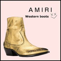AMIRI Street Style Plain Leather Boots