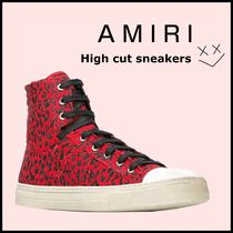 AMIRI Leopard Patterns Street Style Sneakers
