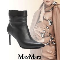 MaxMara Leather Party Style Elegant Style Ankle & Booties Boots