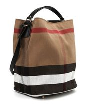 Burberry Other Check Patterns Canvas Shoulder Bags