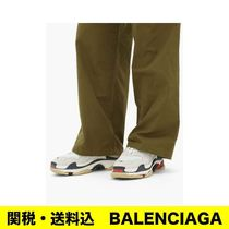 BALENCIAGA Triple S Unisex Street Style Leather Dad Sneakers Sneakers