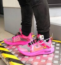 Off-White Unisex Blended Fabrics Street Style Sneakers