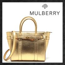 Mulberry Bayswater Casual Style 2WAY Plain Leather Party Style Elegant Style