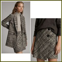 Massimo Dutti Other Check Patterns Casual Style Wool Skirts