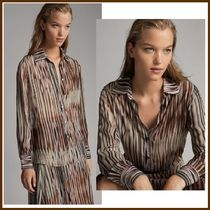 Massimo Dutti Casual Style Tie-dye Long Sleeves Medium Shirts & Blouses