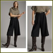 Massimo Dutti Wool Plain Medium Office Style Culottes & Gaucho Pants