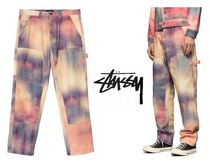 STUSSY Camouflage Unisex Street Style Collaboration Cotton