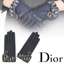 Christian Dior Blended Fabrics Leather Leather & Faux Leather Gloves