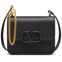 VALENTINO  VSLING Casual Style Calfskin Plain Leather Party Style Office Style