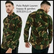 POLO RALPH LAUREN Camouflage Street Style Long Sleeves Cotton Shirts