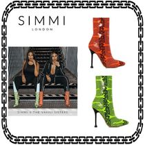 SIMMI Casual Style Street Style Pin Heels Python