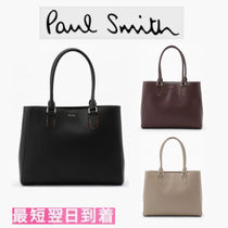 Paul Smith Leather Office Style Elegant Style Totes