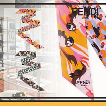 FENDI Casual Style Silk Other Animal Patterns Elegant Style