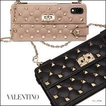 VALENTINO Studded Leather iPhone X iPhone XS Smart Phone Cases
