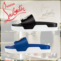 Christian Louboutin Plain Leather Shower Shoes Shower Sandals
