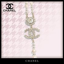 CHANEL Costume Jewelry Blended Fabrics Chain Party Style