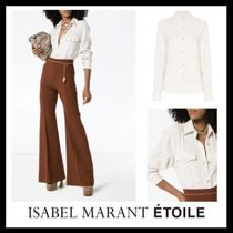 ISABEL MARANT ETOILE Casual Style Long Sleeves Cotton Long Shirts & Blouses