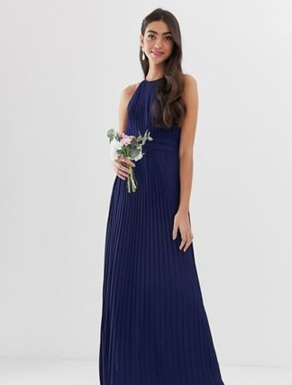 Maxi Sleeveless Long Party Style High-Neck Dresses