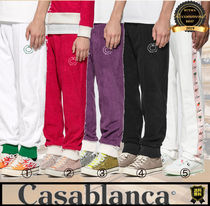 Casablanca Tapered Pants Unisex Street Style Cotton Tapered Pants