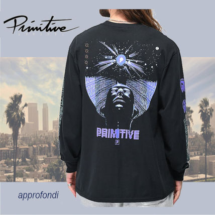 Crew Neck Street Style Long Sleeves Cotton T-Shirts