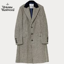 Vivienne Westwood Gingham Wool Long Chester Coats