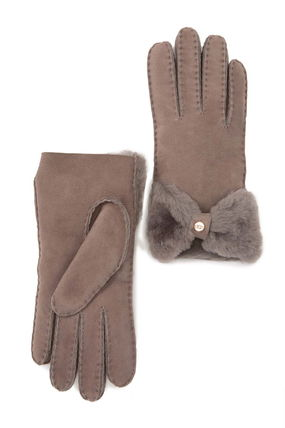 UGG Australia Plain Leather Shearling Leather & Faux Leather Gloves