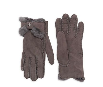 UGG Australia Shearling Plain Leather Leather & Faux Leather Gloves