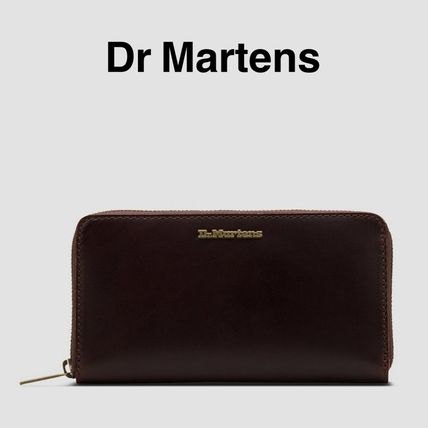 Unisex Street Style Plain Leather Long Wallets