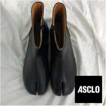 ASCLO Unisex Street Style Plain Leather Boots