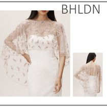 BHLDN Flower Patterns Blended Fabrics Lace Boleros & Shawls