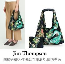 JIM THOMPSON Flower Patterns Casual Style Leather Party Style