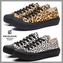 EXCELSIOR Leopard Patterns Platform Casual Style Plain