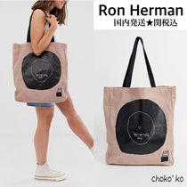 Ron Herman Casual Style Unisex Canvas Street Style Collaboration A4