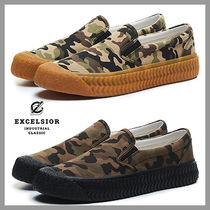 EXCELSIOR Camouflage Unisex Street Style Plain Sneakers