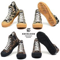 EXCELSIOR Camouflage Unisex Street Style Sneakers