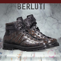 Berluti Mountain Boots Other Animal Patterns Leather Outdoor Boots