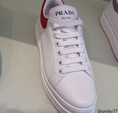 PRADA Low-Top Casual Style Unisex Plain Leather Low-Top Sneakers 5