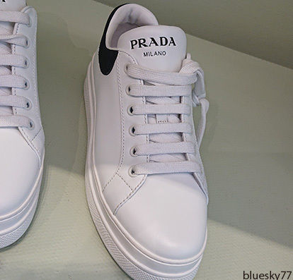 PRADA Low-Top Casual Style Unisex Plain Leather Low-Top Sneakers 7