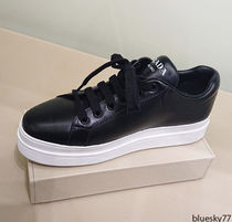 PRADA Casual Style Unisex Plain Leather Low-Top Sneakers
