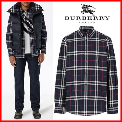 Burberry Shirts Long Sleeves Cotton Luxury Shirts
