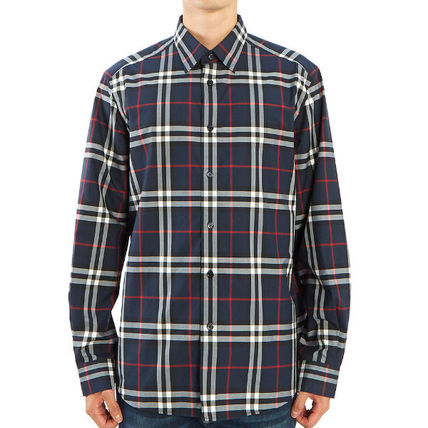 Burberry Shirts Long Sleeves Cotton Luxury Shirts 2