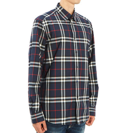 Burberry Shirts Long Sleeves Cotton Luxury Shirts 4