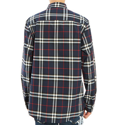 Burberry Shirts Long Sleeves Cotton Luxury Shirts 5