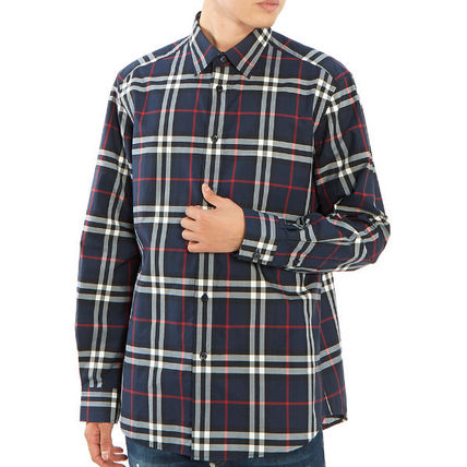 Burberry Shirts Long Sleeves Cotton Luxury Shirts 6